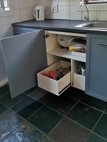 Home Dzine Kitchen Replace Undersink Kitchen Cupboard With New Storage Cupboard