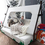 diy wigwam or teepee bed