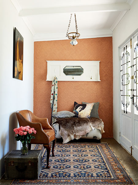 Add some Textured Shimmer to Walls with paintable wallpaper