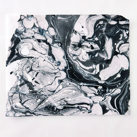 oil paint marble design on fabric or paper