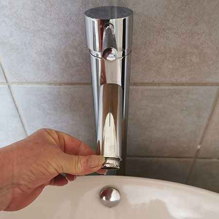 how to clean tap filter