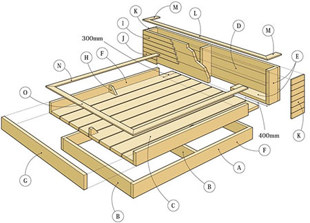 diagram for DIY day bed