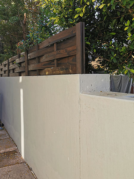 how to increase height of garden wall