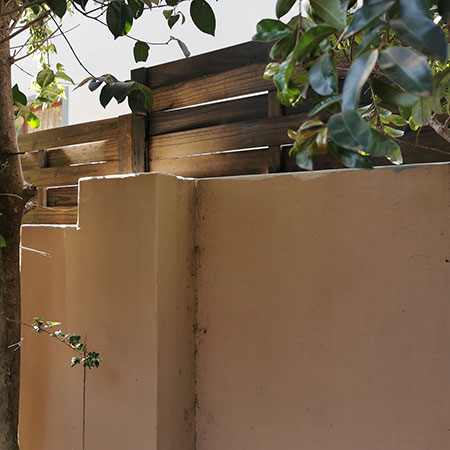 height of wall after adding fence panel