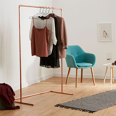 Copper Pipe Clothes Rail