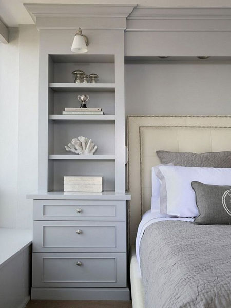 use the space around the bed head