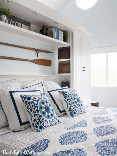 use the space around the bed for storage