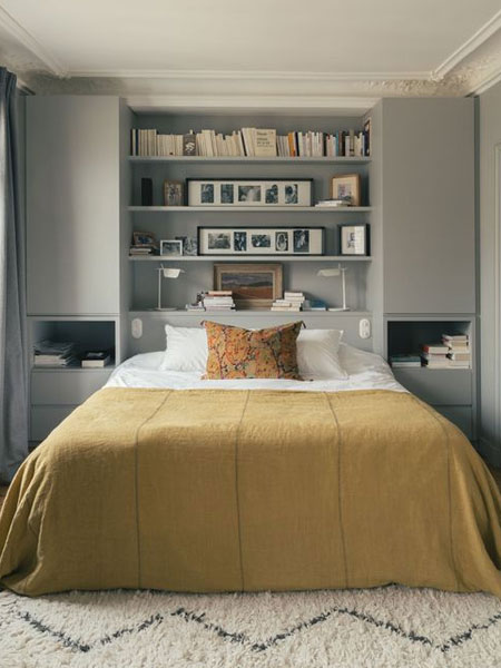 ideas for storage around the bed