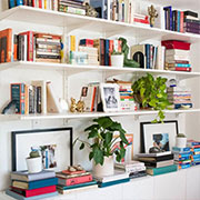 how to style a bookcase or bookshelf