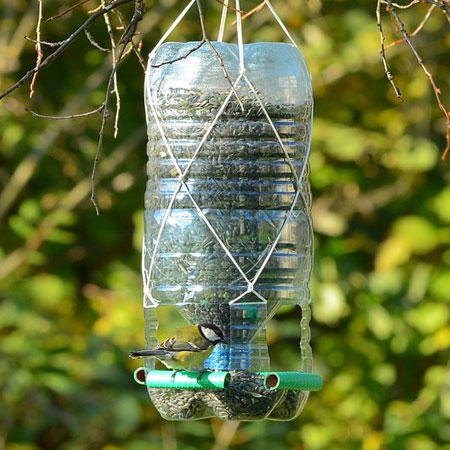 RECYCLED PLASTIC BIRD FEEDERS AND WATER BOTTLES