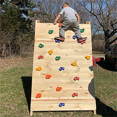 climbing wall or frame for kids
