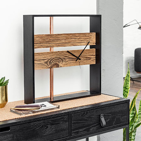 Make a Modern Clock with Reclaimed Wood and Copper Accents