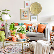 decorate with boho flair