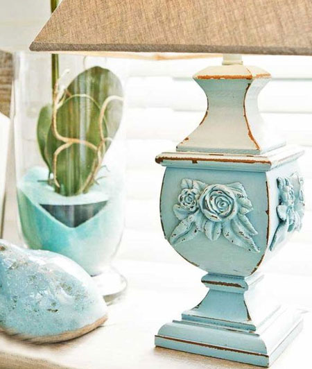 Table Lamp with Chalk or Milk Paint fiinish