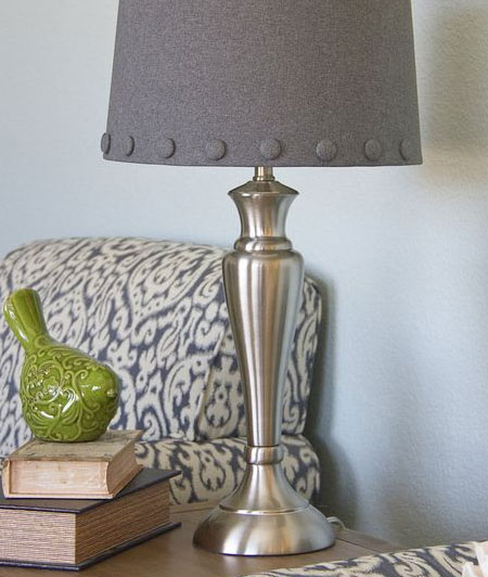 Table Lamp makeover with Spray Metallic Paint
