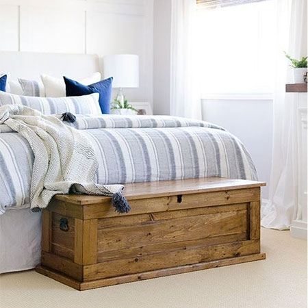 store bed linens in dry dust-free storage