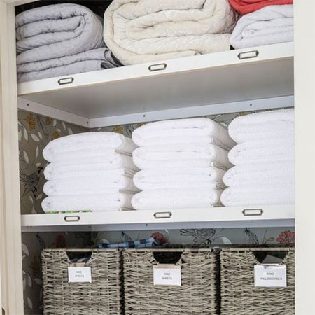 ideas for bed linen storage