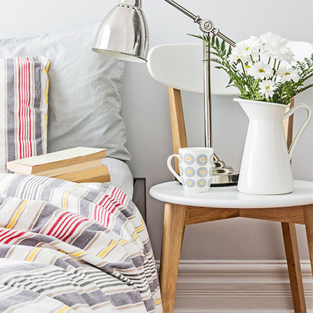 refresh bed linen with bedroom makeover