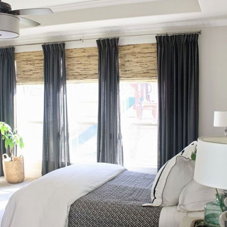 window treatment for bedroom makeover