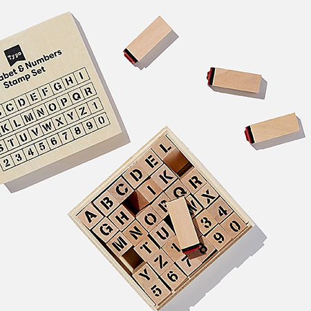 stamp letters and numbers