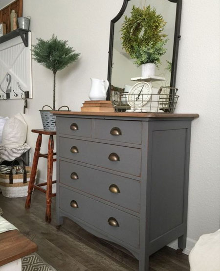 how to paint chest of drawers