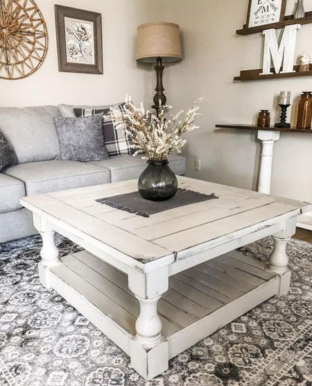 secondhand farmhouse coffee table