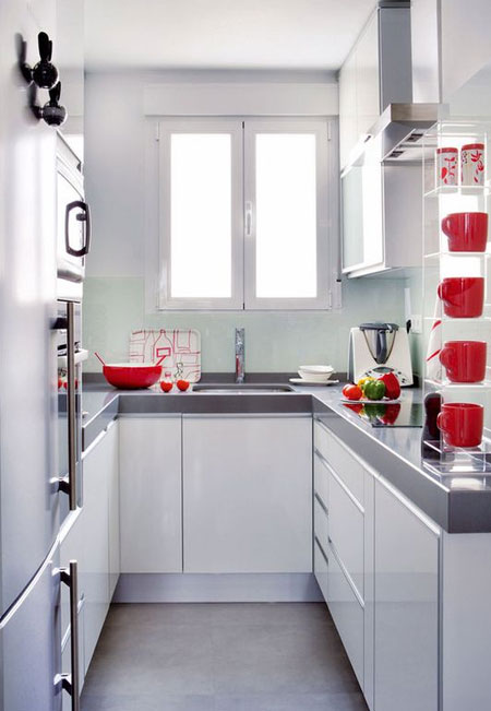 neutral colours for small kitchen design