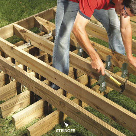 how to build freestanding deck