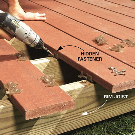 reinforce frame for decking