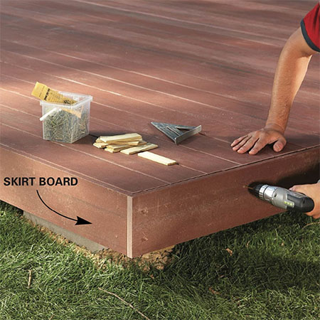 diy freestanding deck