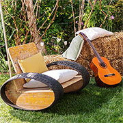recycled tyre rocking chair