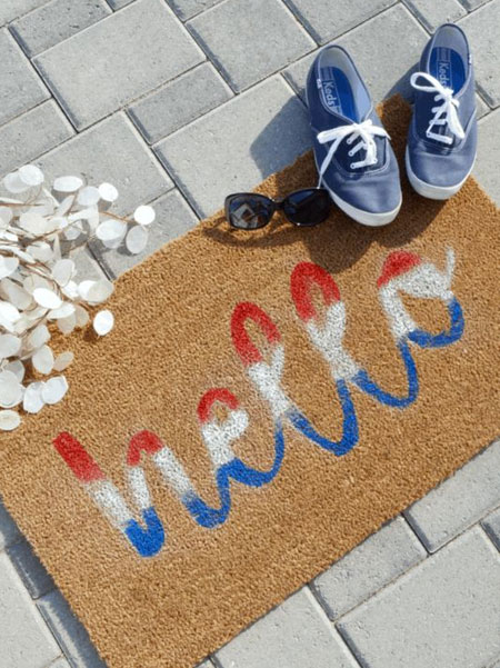 how to add message to door mat