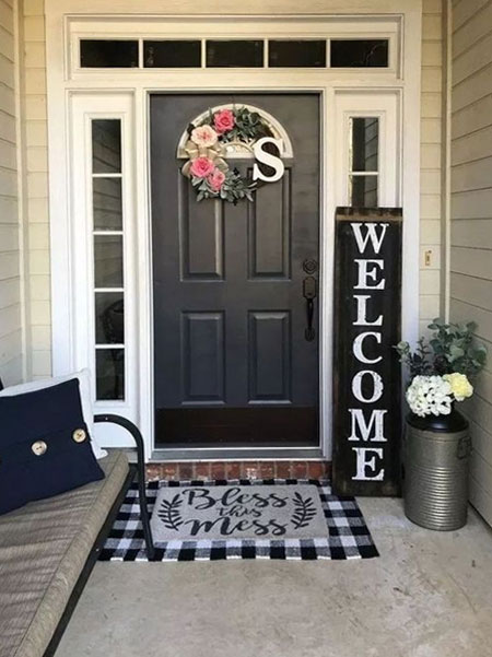 welcoming entrance to home