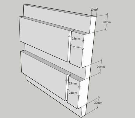 diagram for floating key shelf
