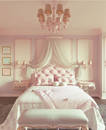 princess pink bedroom for little girl