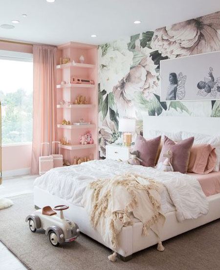 wallpaper design for little girls room