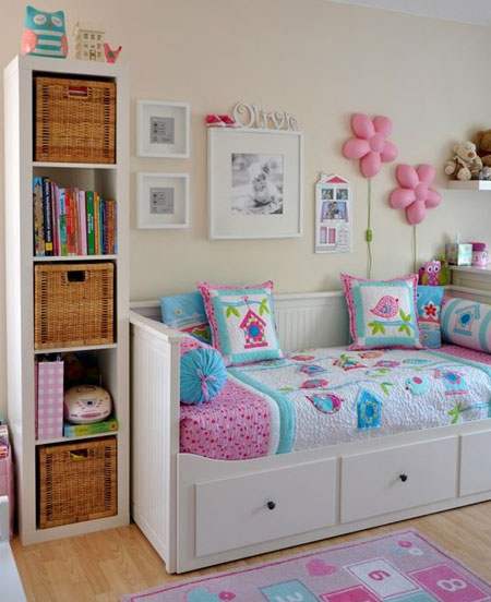pretty colours for little girls bedroom