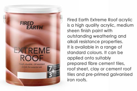 fired earth extreme roof tile paint