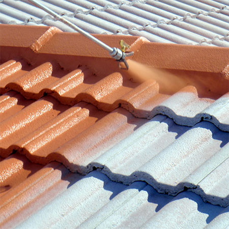 how to spray roof tiles