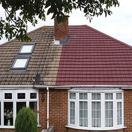 how to paint roof tiles