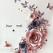 paper flowers for nursery wall decor