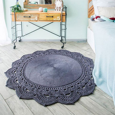 lace mats and rugs