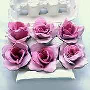 recycled egg carton roses