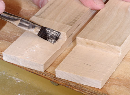 use wood glue for strong half lap joint