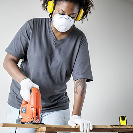 wear safety gear when doing diy
