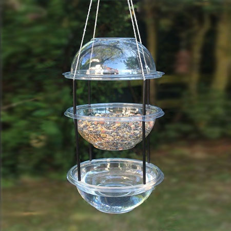 recycle plastic container bird feeder