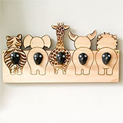 jungle theme coat hanger for nursery