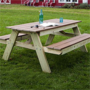 DIY picnic table and benches