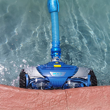 zodiac mx8 is the only pool cleaner to clean up the sides