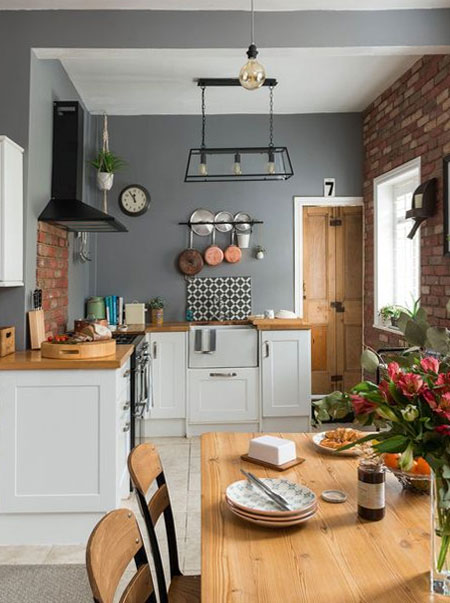 decorate grey walls in kitchen